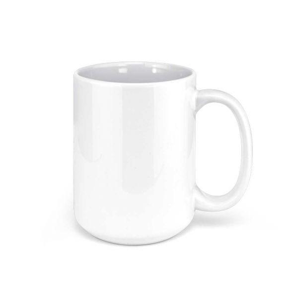 White Ceramic Sublimation Coffee Mug - 15oz.